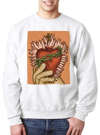 Sweatshirt - Sacred Heart by L. Williams