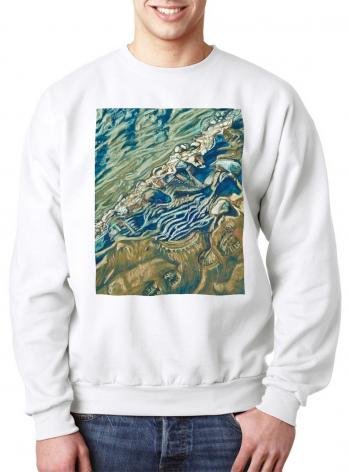 Sweatshirt - Shoe Prints on the Bank by L. Williams
