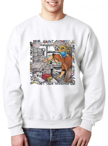 Sweatshirt - St. Anthony of Padua by M. McGrath