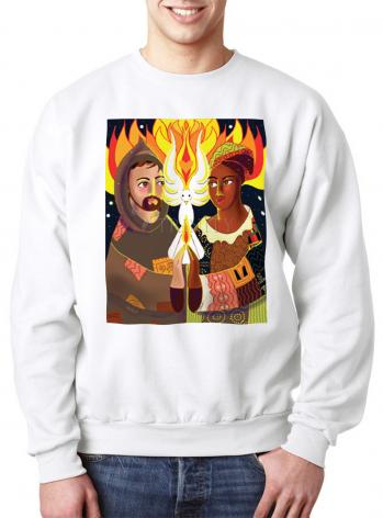 Sweatshirt - St. Francis of Assisi: Br. Sun, Sr. Thea by M. McGrath