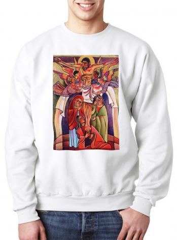 Sweatshirt - Crucifixion by M. McGrath