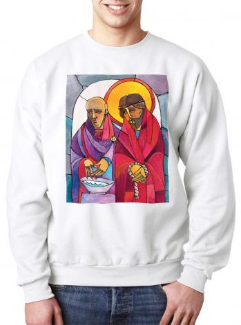 Sweatshirt - Stations of the Cross - 01 Jesus is Condemned to Death by M. McGrath