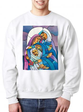 Sweatshirt - Stations of the Cross - 14 Body of Jesus is Laid in the Tomb by M. McGrath