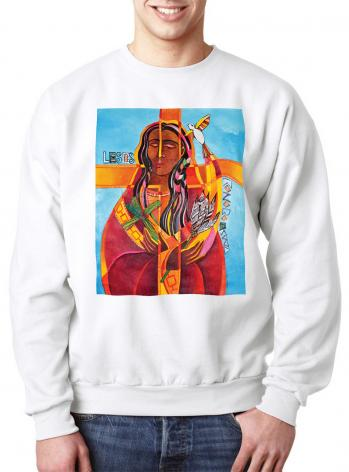 Sweatshirt - Jesus I Love You - Lesos Konoronhkwa by M. McGrath
