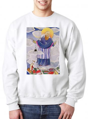 Sweatshirt - St. Francis de Sales, Patron of Writers by M. McGrath