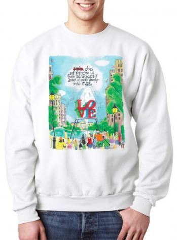 Sweatshirt - Pope Francis: Philly Love by M. McGrath