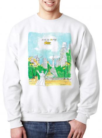 Sweatshirt - Pope Francis: Philly Museum by M. McGrath