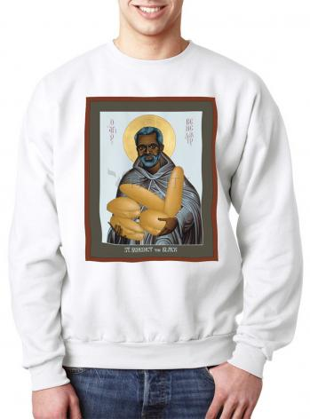 Sweatshirt - St. Benedict the Black by R. Lentz