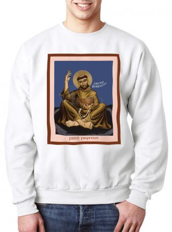 Sweatshirt - St. Francis, Father of the Poor by R. Lentz