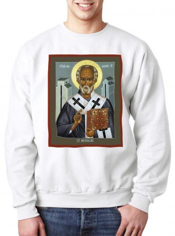 Sweatshirt - St. Nicholas of Myra by R. Lentz