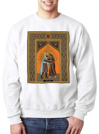 Sweatshirt - St. Francis and the Sultan by R. Lentz