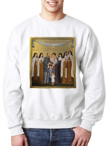 Sweatshirt - Sts. Louis and Zélie Martin with St. Thérèse of Lisieux and Siblings by P. Orlando