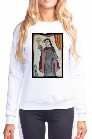 Sweatshirt - St. Clare of Assisi by A. Olivas