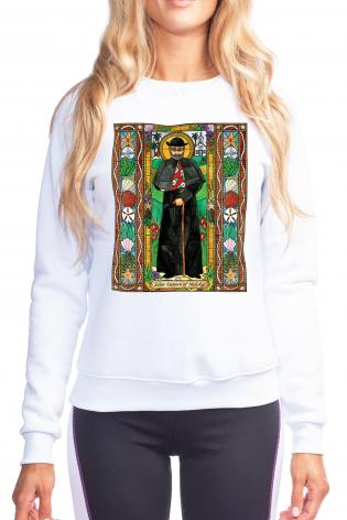 Sweatshirt - St. Damien of Molokai by B. Nippert