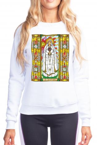 Sweatshirt - Our Lady of Fatima by B. Nippert