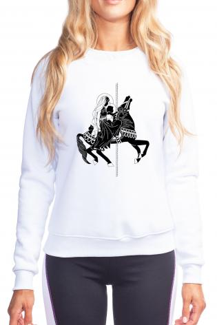 Sweatshirt - Carousel Madonna by D. Paulos