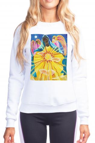 Sweatshirt - Mary, Queen of the Universe by M. McGrath