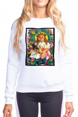 Sweatshirt - St. Thérèse, the Little Doctor by M. McGrath