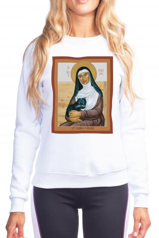 Sweatshirt - St. Clare of Assisi by R. Lentz