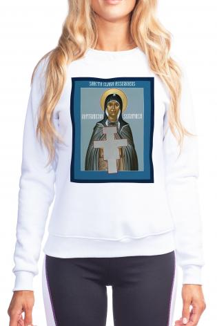 Sweatshirt - St. Clare of Assisi: Seraphic Matriarch by R. Lentz