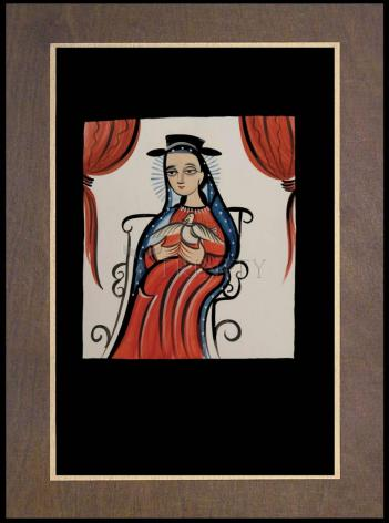 Wood Plaque Premium - Soul of Mary by A. Olivas