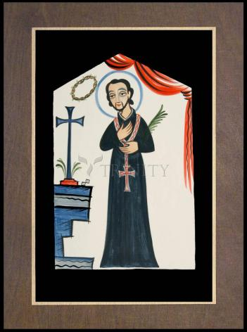 Wood Plaque Premium - St. Cayetano by A. Olivas