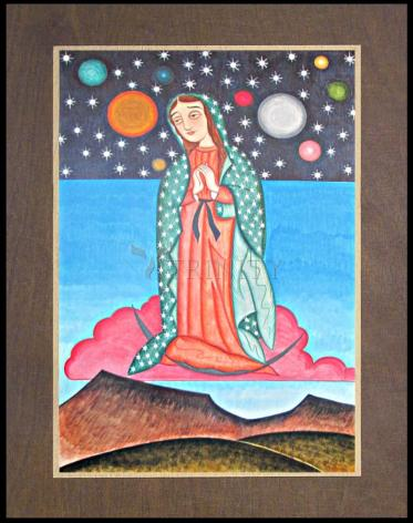 Wood Plaque Premium - Our Lady of the Cosmos by A. Olivas