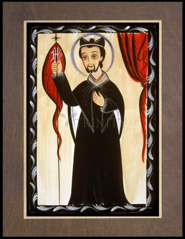 Wood Plaque Premium - St. Ignatius of Loyola by A. Olivas