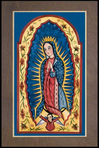 Wood Plaque Premium - Our Lady of Guadalupe by A. Olivas