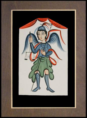 Wood Plaque Premium - St. Michael Archangel by A. Olivas