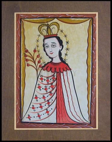 Wood Plaque Premium - Our Lady of the Roses by A. Olivas
