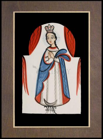 Wood Plaque Premium - Our Lady of the Immaculate Conception by A. Olivas