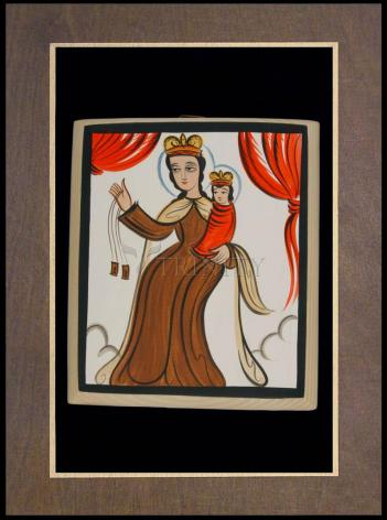 Wood Plaque Premium - Our Lady of Mt. Carmel by A. Olivas