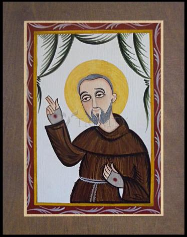 Wood Plaque Premium - St. Padre Pio by A. Olivas