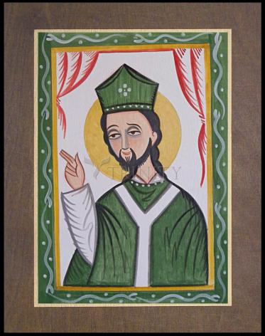 Wood Plaque Premium - St. Patrick by A. Olivas