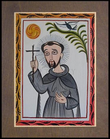 Wood Plaque Premium - St. Francis of Assisi by A. Olivas