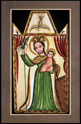 Wood Plaque Premium - St. Joseph by A. Olivas