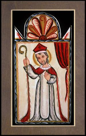 Wood Plaque Premium - St. Nicholas by A. Olivas