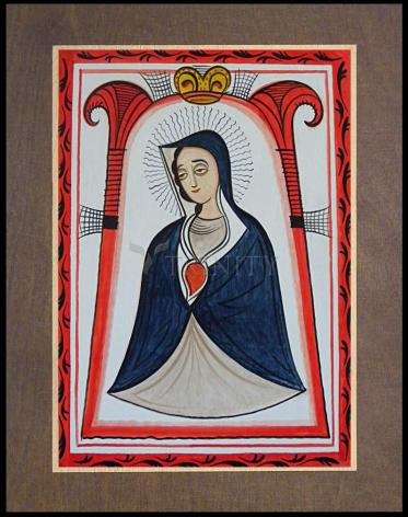 Wood Plaque Premium - Our Lady of the Cave by A. Olivas