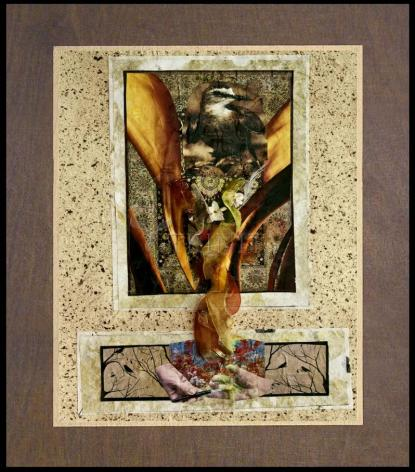 Wood Plaque Premium - Birds of Paradise by B. Gilroy