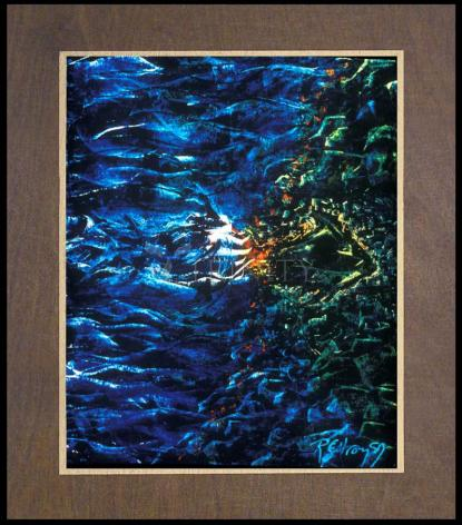 Wood Plaque Premium - Fish Fossil by B. Gilroy