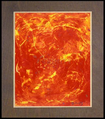 Wood Plaque Premium - Flames of Love by B. Gilroy
