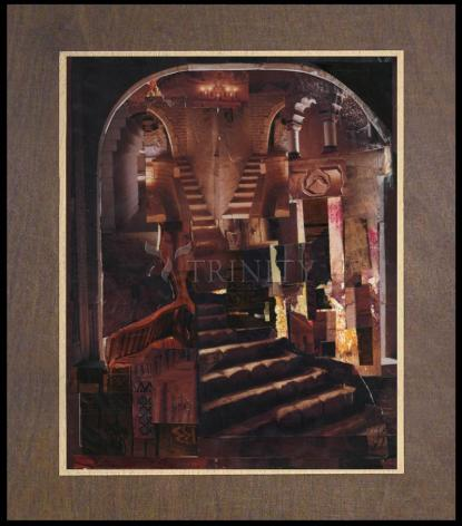 Wood Plaque Premium - Split Staircase by B. Gilroy