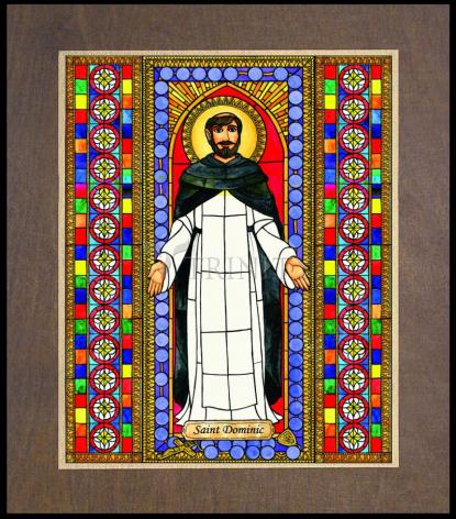 Wood Plaque Premium - St. Dominic by B. Nippert
