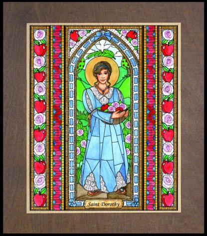 Wood Plaque Premium - St. Dorothy by B. Nippert