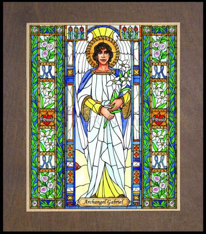 Wood Plaque Premium - St. Gabriel Archangel by B. Nippert