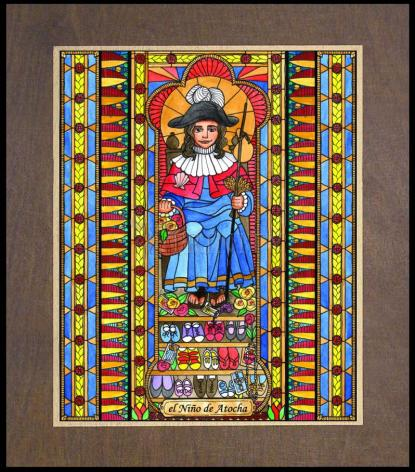 Wood Plaque Premium - Holy Child of Atocha by B. Nippert