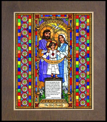 Wood Plaque Premium - Holy Family by B. Nippert