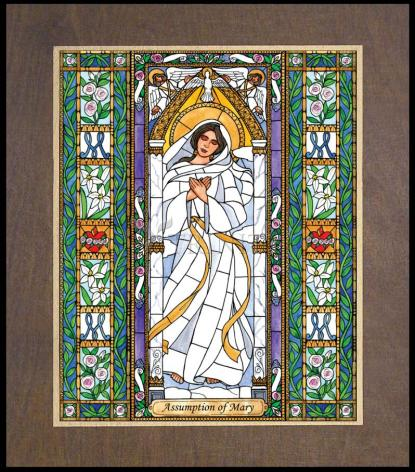 Wood Plaque Premium - Assumption of Mary by B. Nippert