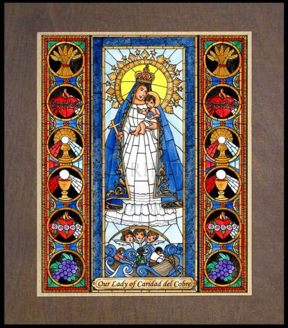 Wood Plaque Premium - Our Lady of Caridad del Cobra by B. Nippert